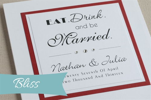 Bliss Wedding Invitation
