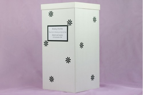 Flower Design Wedding Post Box