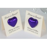 Love Chocolate Heart Card Favour