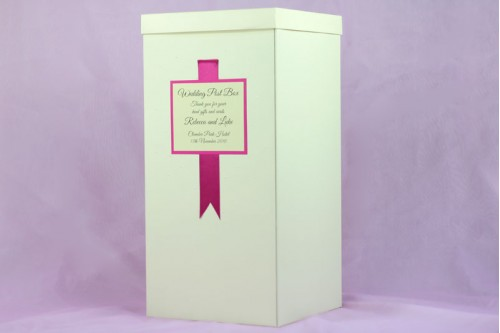Ribbon Wedding Post Box